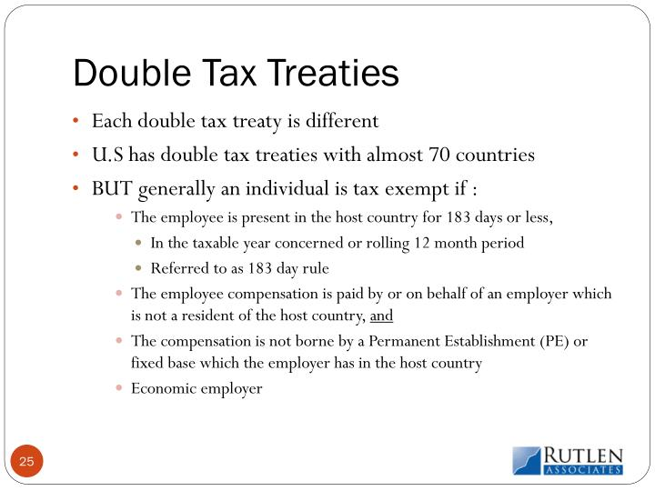 Double Tax Treaties