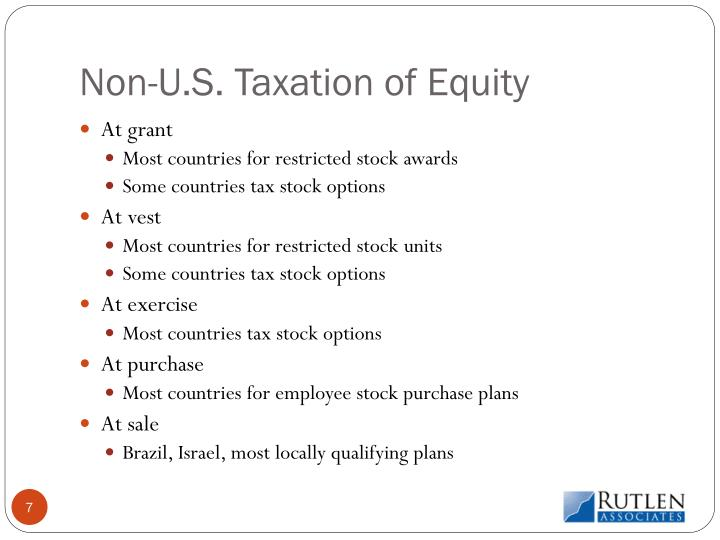 Non-U.S. Taxation of Equity