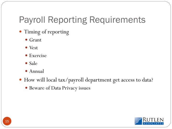 Payroll Reporting Requirements