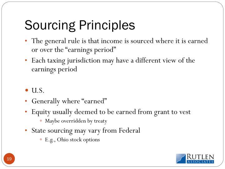 Sourcing Principles