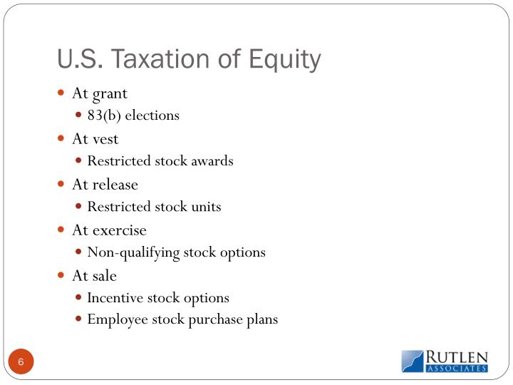 U.S. Taxation of Equity