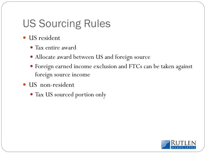 US Sourcing Rules
