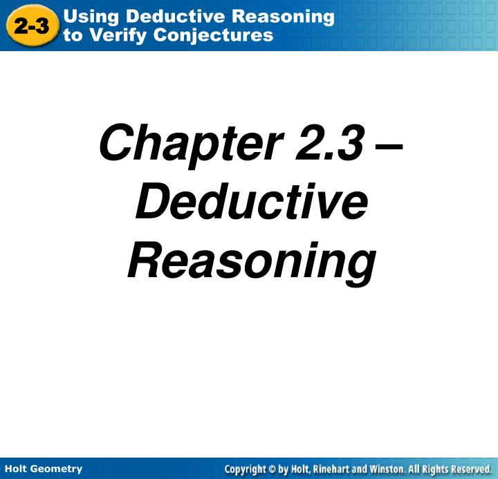chapter 2 3 deductive reasoning