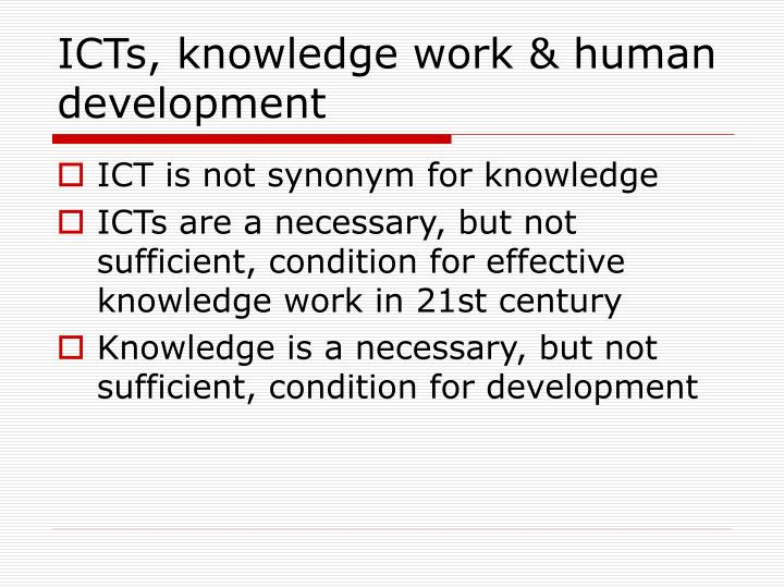 Icts knowledge work human development