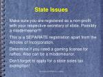 state issues