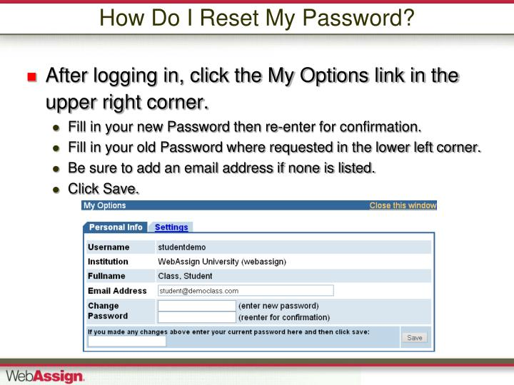 How Do I Reset My Password?