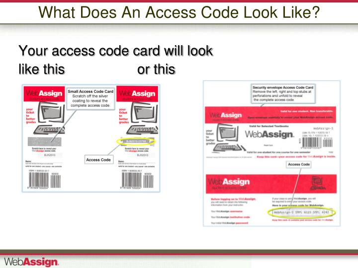 What Does An Access Code Look Like?
