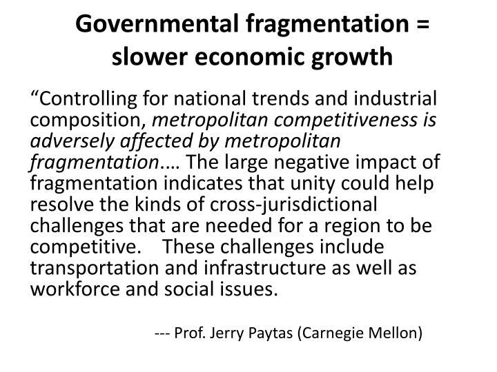 Governmental fragmentation =