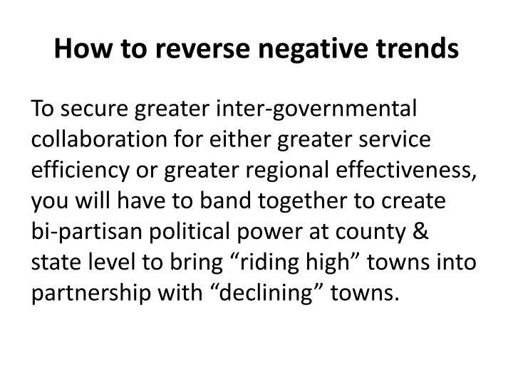 How to reverse negative trends
