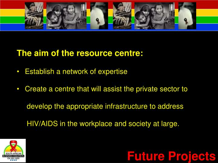 The aim of the resource centre: