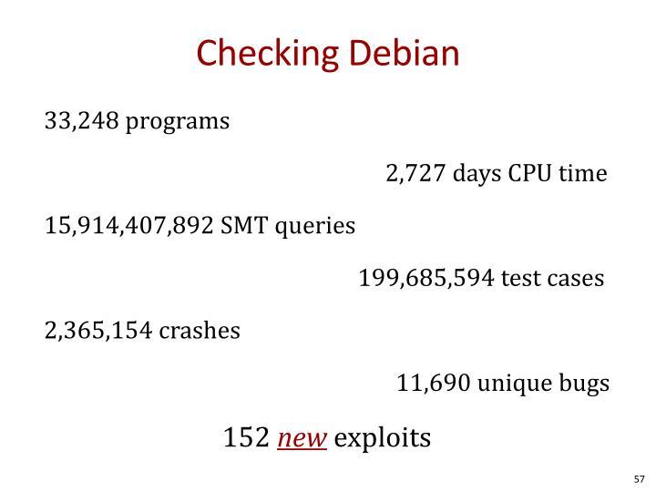 Checking Debian