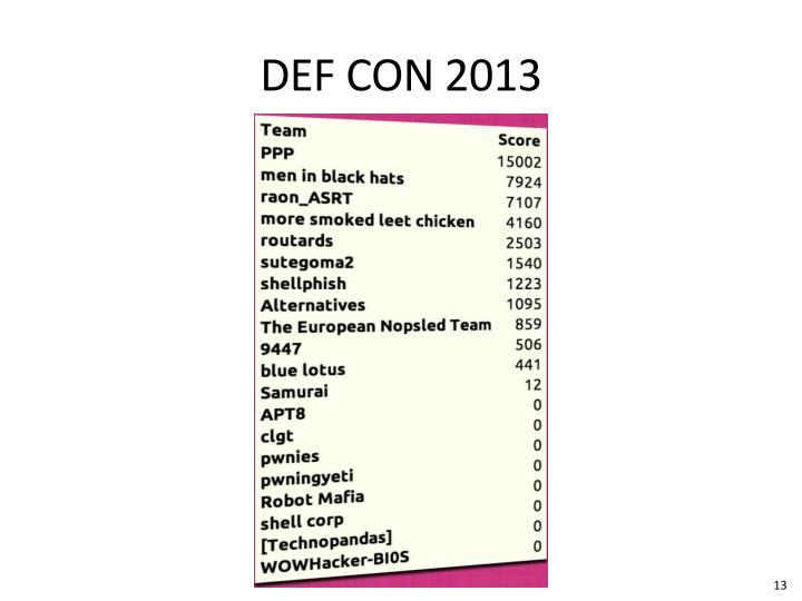 DEF CON 2013