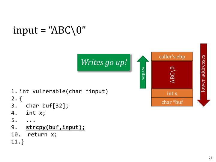 """input = """"ABC\0"""""""
