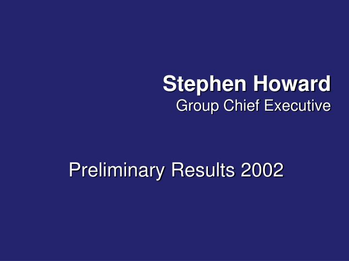 Stephen Howard