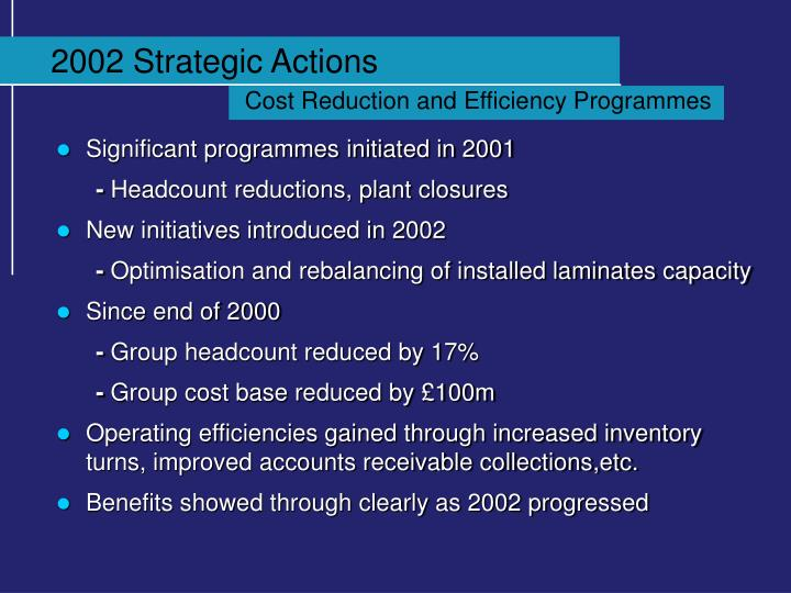 2002 Strategic Actions
