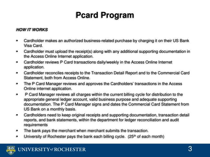 Pcard Program
