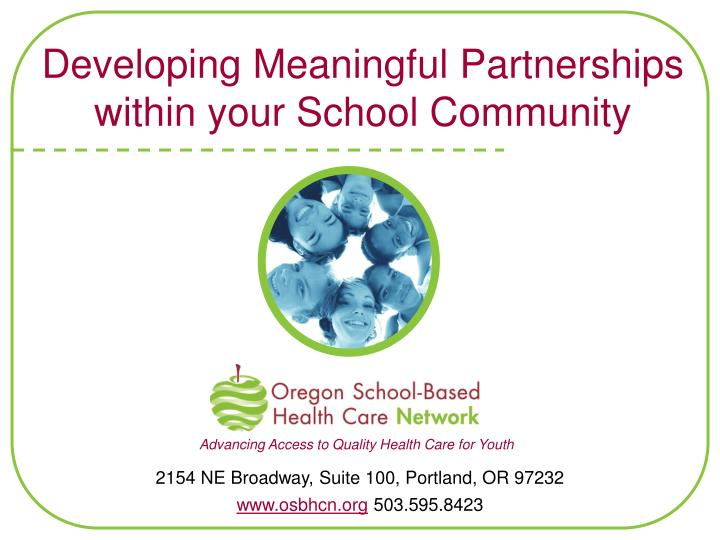 Developing meaningful partnerships within your school community