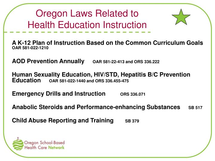 Oregon Laws Related to