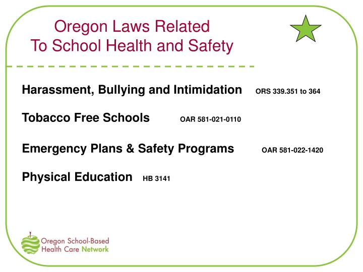 Oregon Laws Related