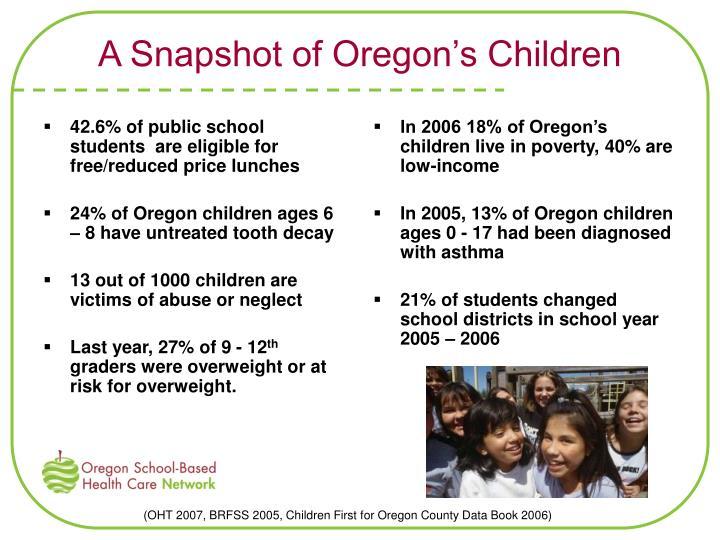 A Snapshot of Oregon's Children