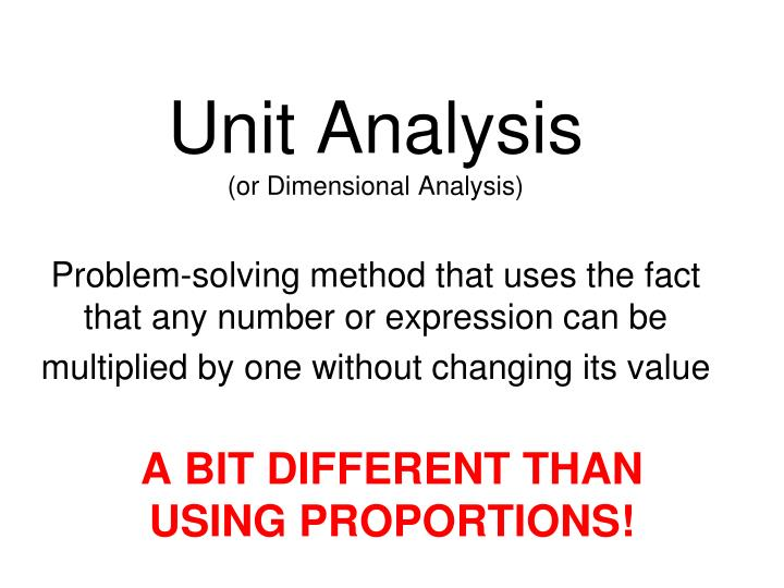 analyse the methods used by one