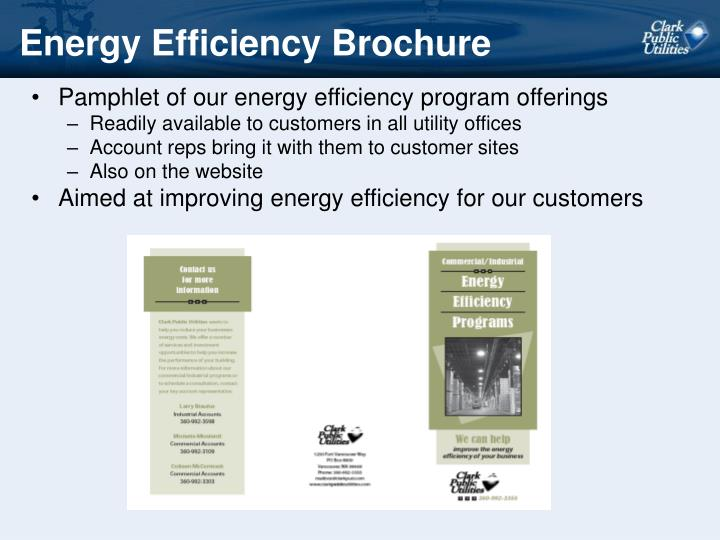 Energy Efficiency Brochure