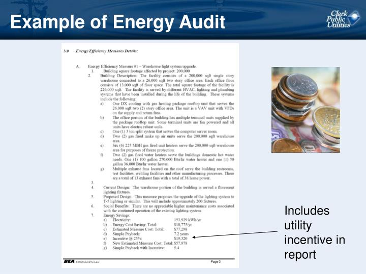 Example of Energy Audit