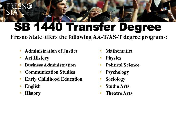SB 1440 Transfer Degree
