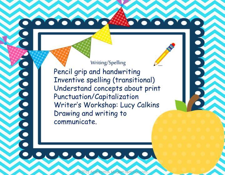 Writing/Spelling