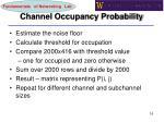 channel occupancy probability