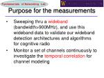 purpose for the measurements