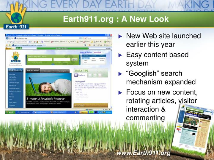 Earth911.org : A New Look