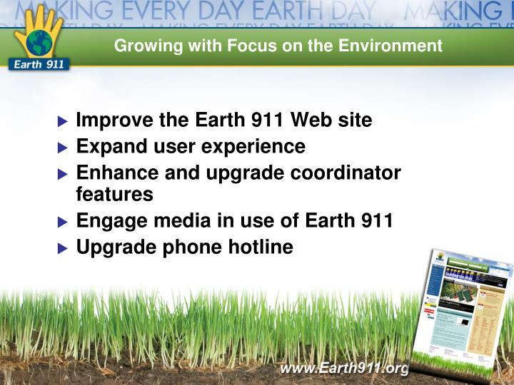 Improve the Earth 911 Web site