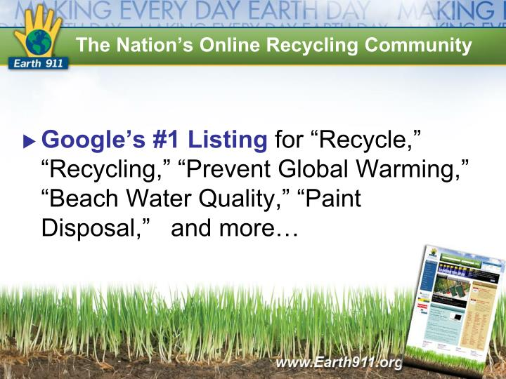 The Nation's Online Recycling Community