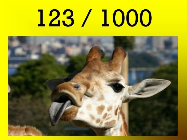 123 / 1000