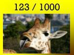 123 1000