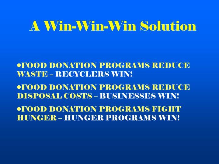 A Win-Win-Win Solution