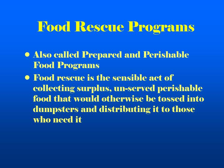 Food Rescue Programs