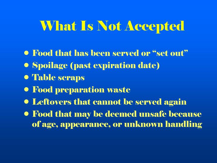 What Is Not Accepted