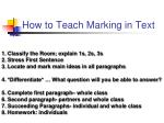 how to teach marking in text