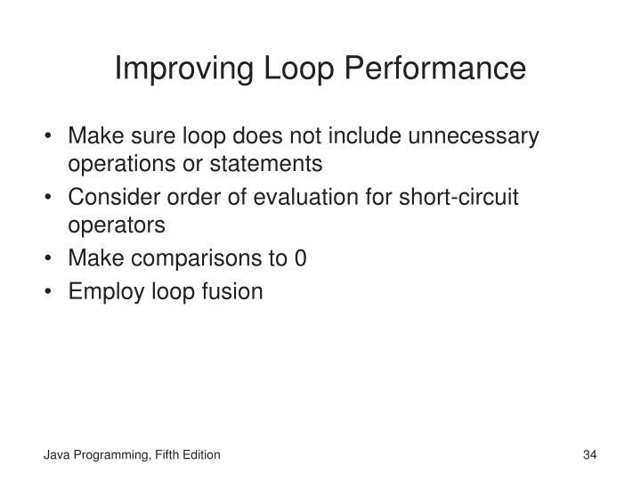 Improving Loop Performance
