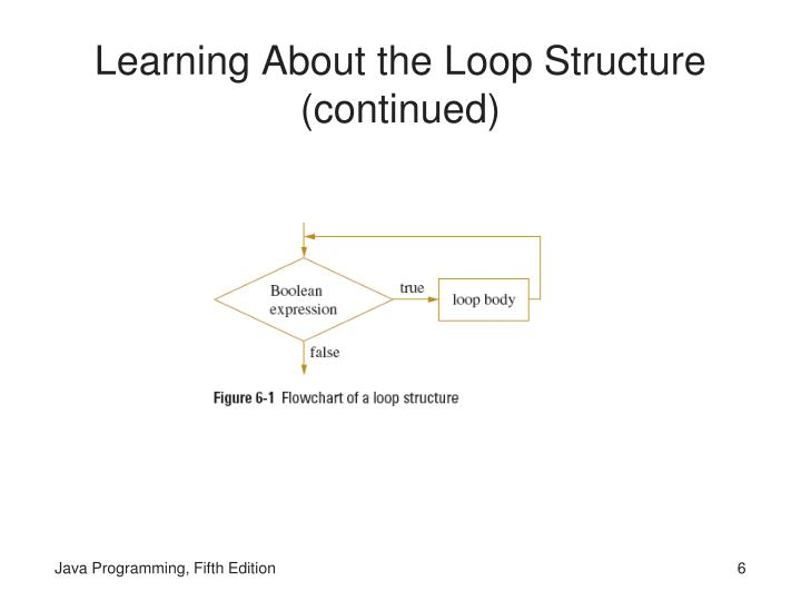 Learning About the Loop Structure (continued)