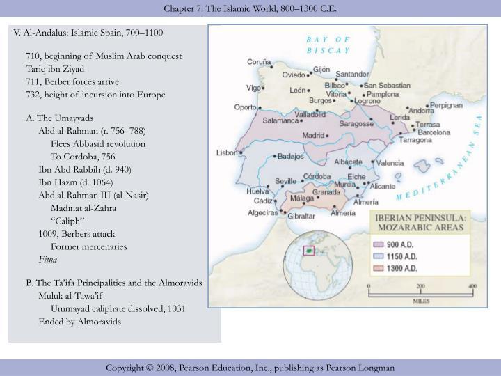 V. Al-Andalus: Islamic Spain, 700–1100