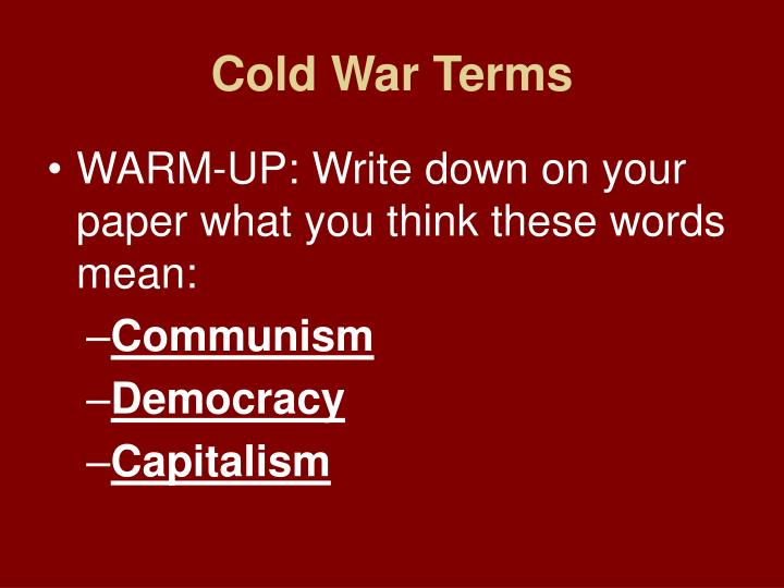 Cold War Terms