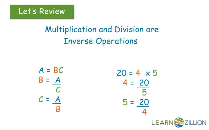 Multiplication and Division are