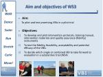 aim and objectives of ws3