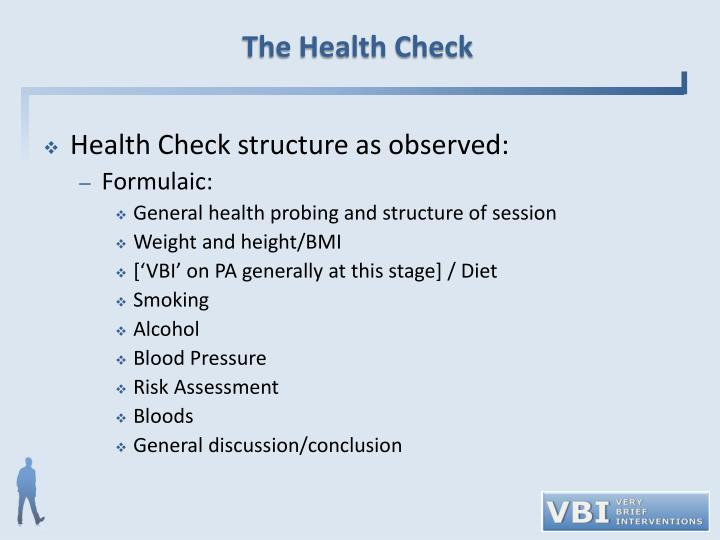 The Health Check