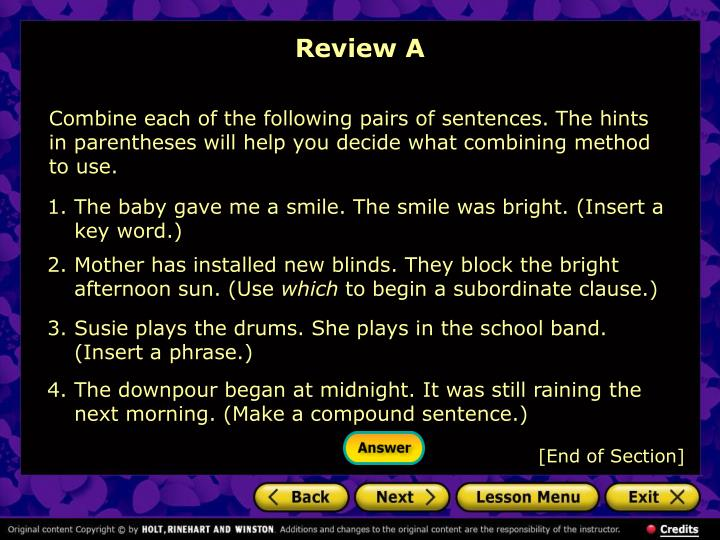 Review A