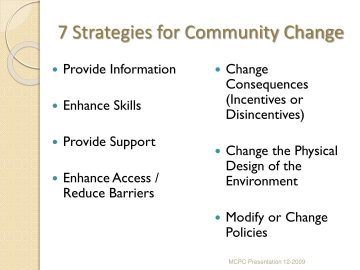 7 Strategies for Community Change