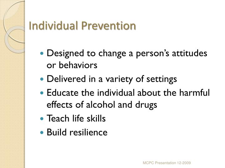 Individual Prevention